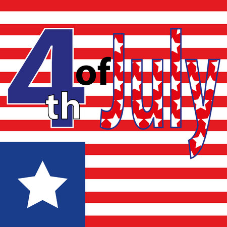 Fourth of July. Fourth of July celebration simple illustration. USA independence day. America freedom