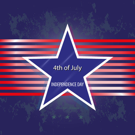 United States of America. 4th of July Independence Day. Vector Illustration