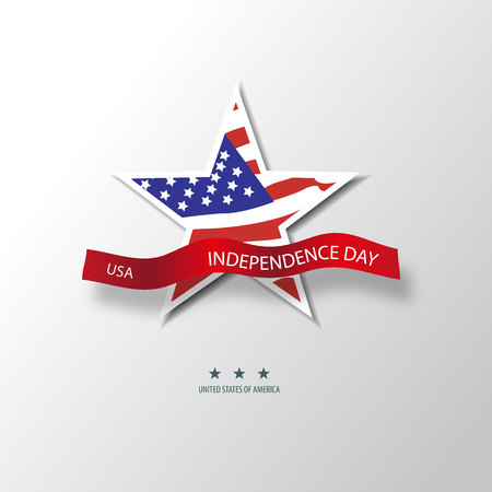 United States of America. 4th of July. Independence Day. Vector 10 Vector Illustration