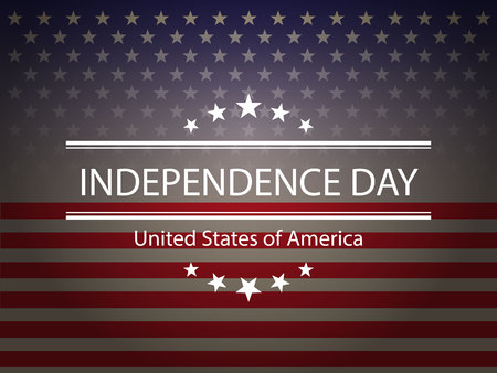 United States of America. 4th of July. Independence Day. Vector 10.