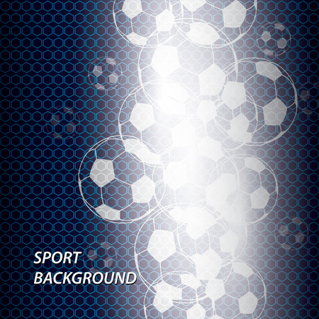 Modern colored poster for sports. Vector illustration, soccer ball