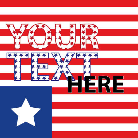 American flag. Stripes and stars. Red and blue. The background for the cover, banner, flyers