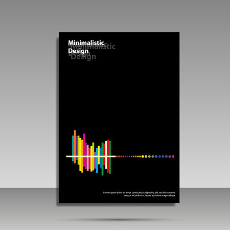 Minimalist design. Black and white. Brochure, cover, banner flyer The concept Ilustrace