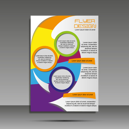 Minimalistyczny kolor A4. Raport roczny, broszura, baner, ulotka z okładką pomysłów