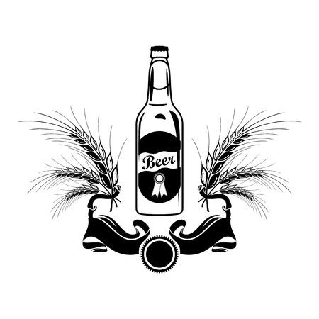 Icona della bottiglia di birra Vettoriali