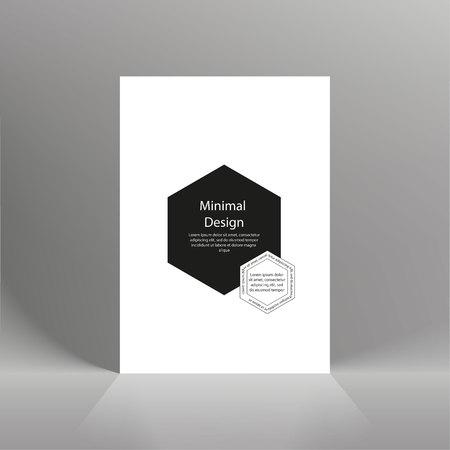 Minimalist design. Black and white. Brochure, cover, banner flyer The concept Ilustração