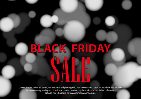 Abstract vector black friday sale layout background. For art template design