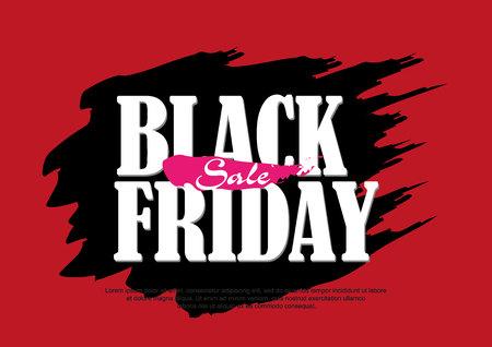 Abstract vector black friday sale layout background. For art template design,brochure, banner, idea, cover, booklet, flyer Ilustração Vetorial
