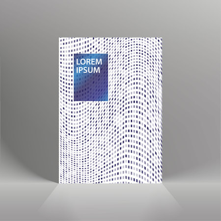 Minimal covers design. Geometric halftone gradients. Eps10 vector Ilustração