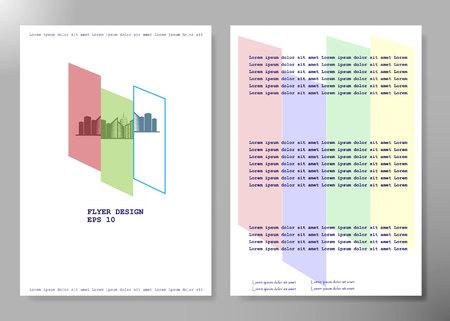 Diseño de vector de folleto de negocios de cubierta de volante, fondo abstracto de publicidad de folleto, plantilla de diseño de revista de póster moderno, informe anual para presentación. Ilustración de vector