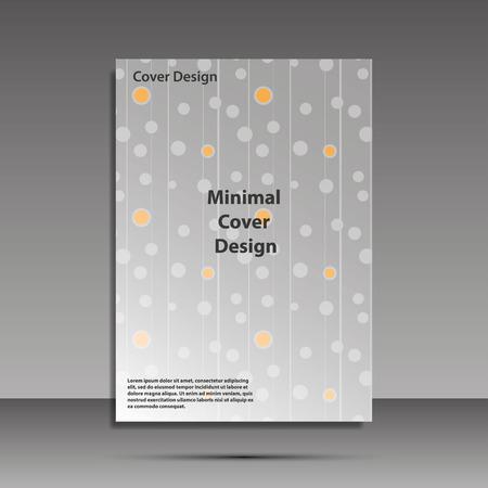 Minimal covers design. Geometric halftone gradients. Eps10 vector Ilustrace