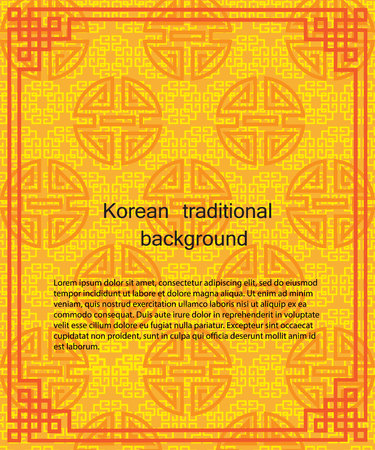 Korean traditional pattern background banner. 版權商用圖片