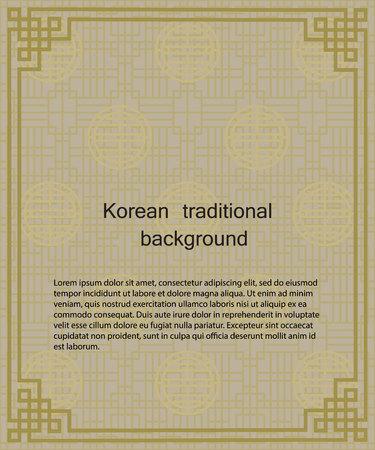 Korean traditional pattern background banner. Vector Design