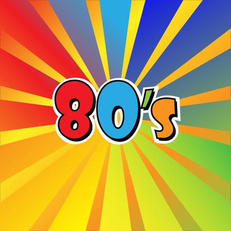 80s Eighties Sign Disco Rap Rock Retro Trendy Pop Art Culture Vintage Foto de archivo - 118683216