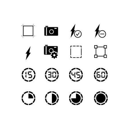 Simple Set of Business Management Related Vector Line Icons. Contains such Icons as brightness, contrast, timer and more. Editable Stroke. 48x48 Pixel Perfect