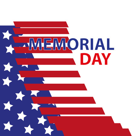 Happy Memorial Day greeting card.Home of the brave. Memorial day background art. Festive poster or banner with hand lettering