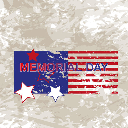 Happy Memorial Day greeting card. Vector illustration. Home of the brave. Memorial day background vector art. Festive poster or banner with hand lettering