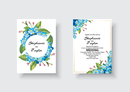 Wedding Invitation, floral invite thank you, rsvp modern card Design: green tropical palm leaf greenery eucalyptus branches decorative wreath frame pattern. Vector elegant watercolor rustic template. Illustration