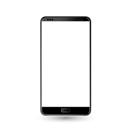 new phone front and black on white background