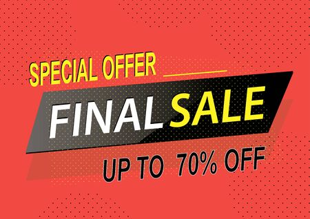 Special offer final sale banner, up to 70 off.