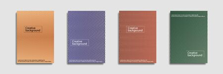 Minimal covers design. Colorful halftone gradients.background modern template design for web. Ilustrace