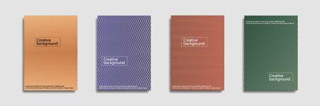 Minimal covers design. Colorful halftone gradients.background modern template design for web. Ilustração