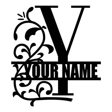 Vector illustration of vintage monogram set. Design template with floral frame, leaves and elements, calligraphic letters, emblem and label. Design element for invitation, wedding or greeting cards Ilustração