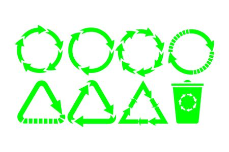 Recycle icon vector. Recycle Recycling set symbol