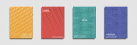 Minimal covers design. Halftone dots colorful design. Future geometric patterns. Eps10 vector. Ilustração