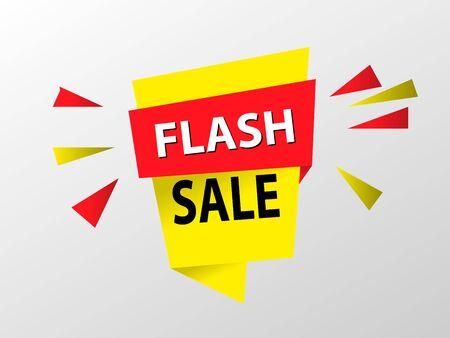 Flash sale discount banner template promotion. EPS10 Stock Illustratie