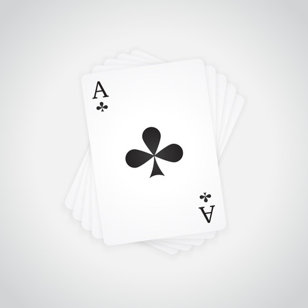 Ace of Clubs at the top of the deck of cards