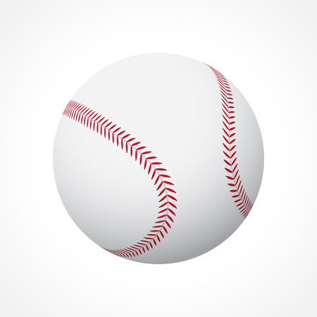 Realistic baseball ball isolated on white background