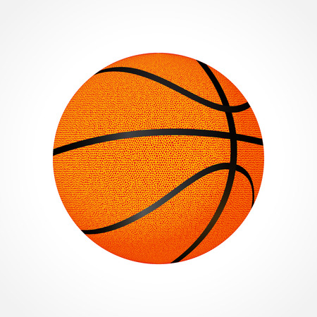 Realistic basketball ball isolated on white background Illustration