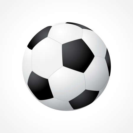 Realistic soccer ball isolated on white background Illustration