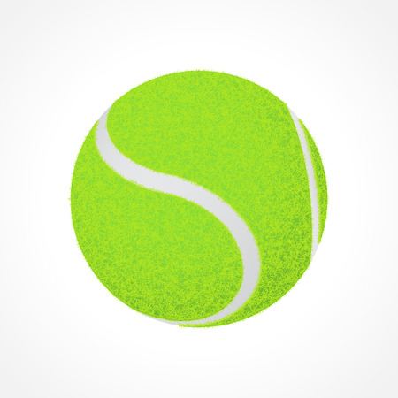 Realistic tennis ball isolated on white background Illustration
