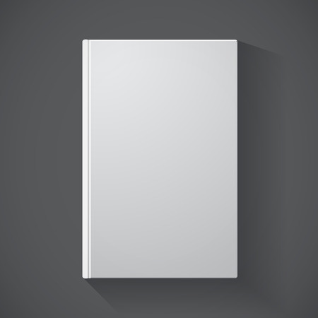 Blank book cover on grey background for design
