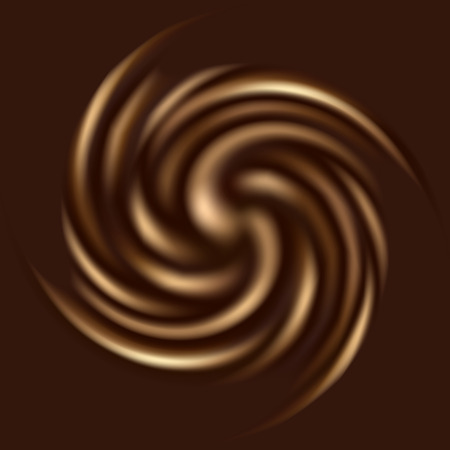 curl whirlpool: Beautiful chocolate swirl for your design