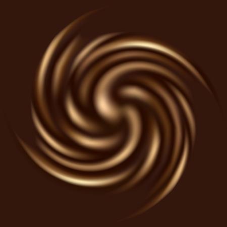 Mooie chocolade krul voor uw ontwerp Stock Illustratie