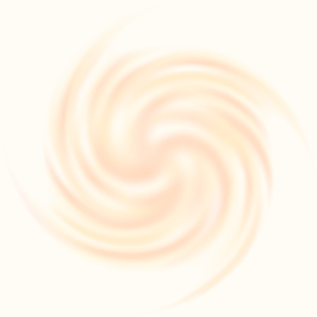 Beautiful abstract creamy swirl isolated on white background