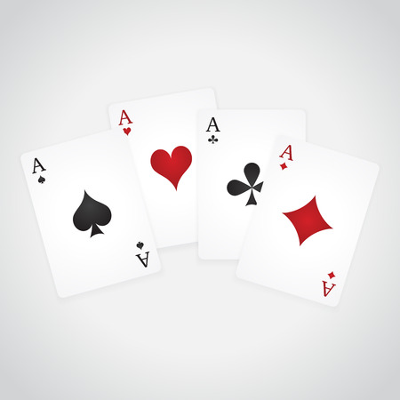 poker hand: A winning poker hand of four aces