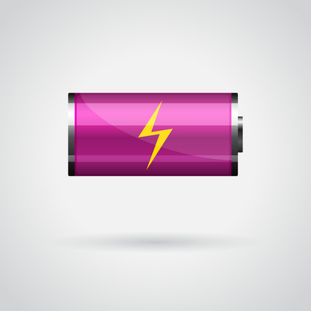 Stylish battery icon for your design Illustration