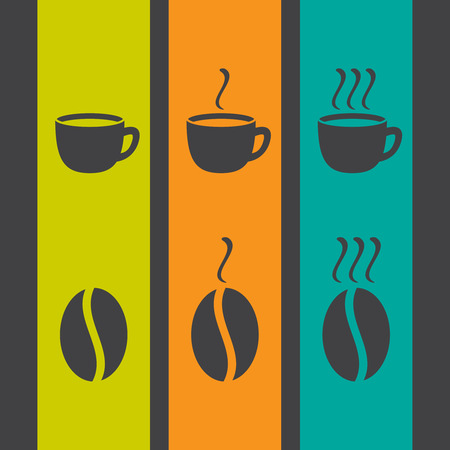 Small set of flat coffee icons