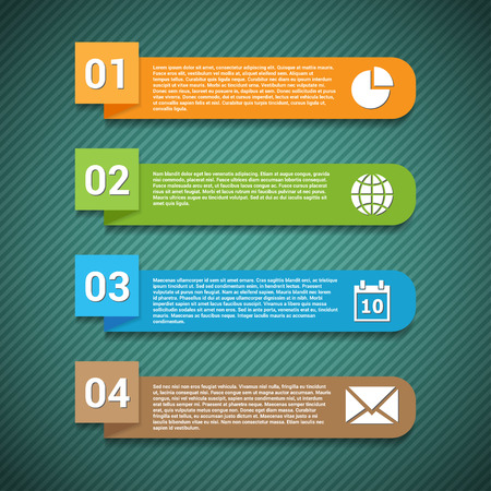 Number options banner with icons  Template for your presentation  Vector