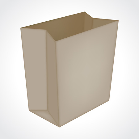 Brown paper shopping bag for your design