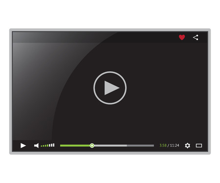 Black video player for web