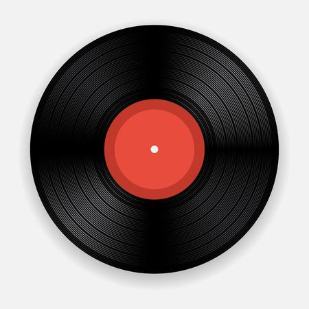 Lege geïsoleerde vinylplaat Stock Illustratie