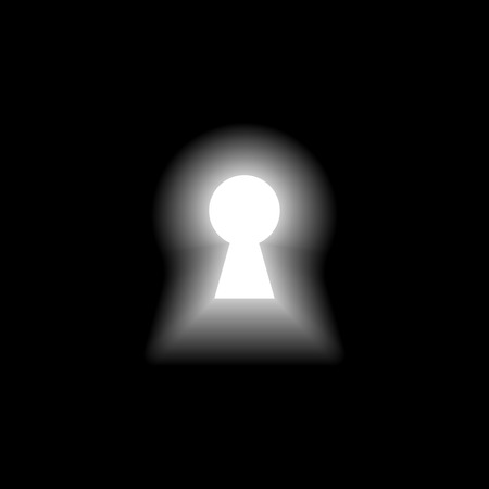 Keyhole with light on black background Vector