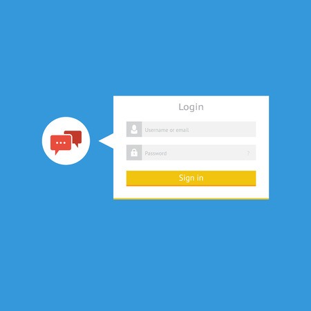 Minimalistic flat login form for web and mobile apps