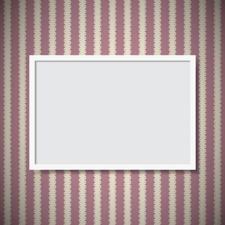 Simple photo frame on vintage wall Illustration