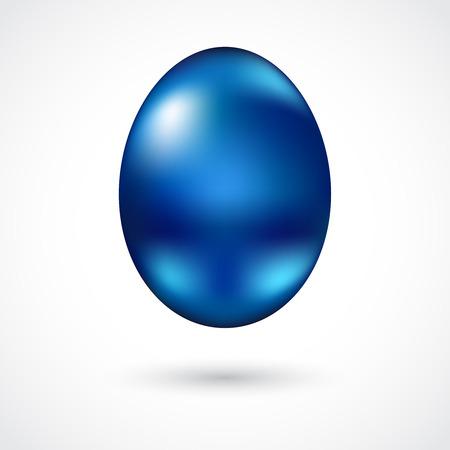 blue metallic background: Blue metallic Easter egg isolated on white background